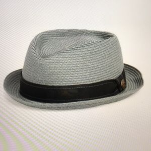 79e9bf75b48 Goorin Bros Pork Pie Grey Woven Hat NWOT